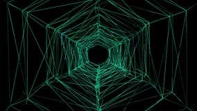 túnel do fio 3D fios 3D animados ilustração stock