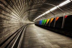 Túnel do metro de Noruega Fotografia de Stock