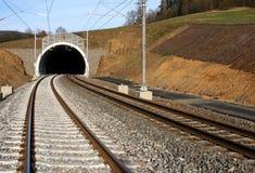 Túnel e estrada de ferro Fotos de Stock Royalty Free