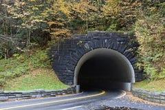Túnel em montanhas fumarentos Fotografia de Stock