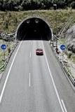 Túnel en la carretera Imagen de archivo libre de regalías