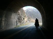 Túnel en la cordillera de los Andes imagen de archivo libre de regalías