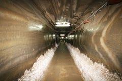 Túnel en mina de sal Foto de archivo libre de regalías