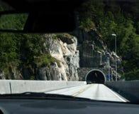 Túnel en Noruega Fotografía de archivo
