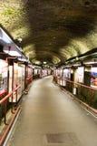 Túnel en un mountian fotos de archivo