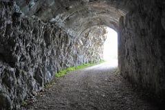 Túnel escavado foto de stock