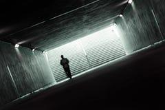 Túnel escuro Fotos de Stock Royalty Free