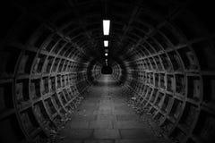 Túnel escuro Foto de Stock