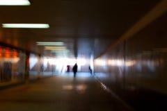 Túnel escuro do passagem subterrânea Foto de Stock