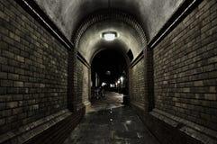 Túnel espeluznante foto de archivo