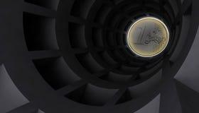 Túnel euro Fotos de archivo