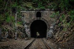 Túnel ferroviario Imagen de archivo libre de regalías
