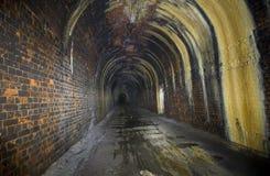 Túnel ferroviario averiado Imágenes de archivo libres de regalías