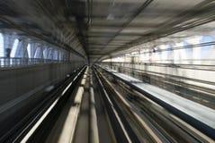 Túnel ferroviario de monocarril de Tokio Imágenes de archivo libres de regalías