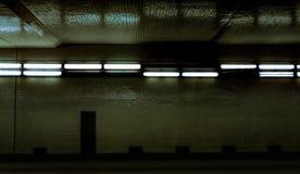 Túnel fluorescente fotografía de archivo