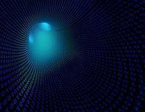 Túnel futurista binario stock de ilustración