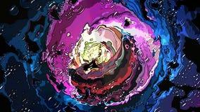 Túnel futurista da reflexão do movimento movente abstrato ilustração royalty free