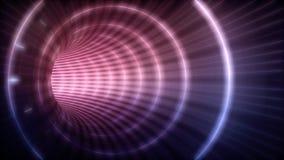 Túnel futurista eléctrico ilustración del vector