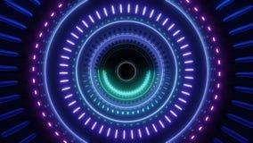 Túnel giratorio abstracto con las luces del multicolor stock de ilustración