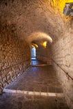 Túnel iluminado Fotos de Stock