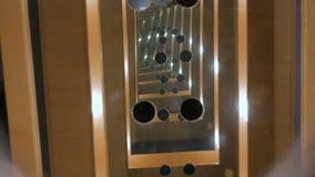Túnel infinito do espelho video estoque