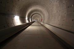 Túnel interior del subterráneo Foto de archivo libre de regalías