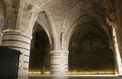 Túnel jerusalem do templer do cavaleiro imagens de stock