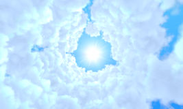 Túnel largo de nubes Foto de archivo