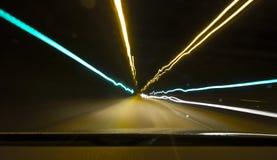 Túnel ligero Fotografía de archivo libre de regalías
