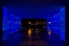 Túnel ligero azul Foto de archivo libre de regalías