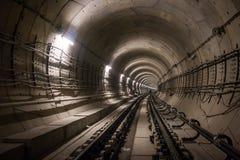 Túnel metropolitano debajo del constraction Fotos de archivo libres de regalías