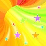 Túnel Multicolor das listras ilustração royalty free