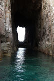 Túnel na montanha Fotos de Stock