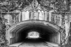 Túnel na rocha Imagens de Stock