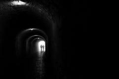 Túnel negro Foto de archivo