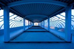 Túnel no azul Imagens de Stock