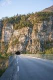 Túnel Noruega do norte Imagens de Stock Royalty Free