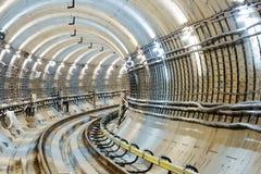 Túnel NYC del subterráneo Imagenes de archivo