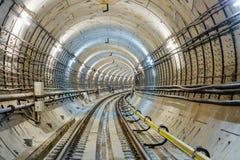 Túnel NYC del subterráneo Foto de archivo libre de regalías