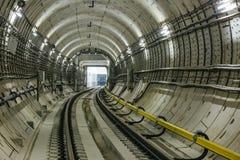 Túnel NYC del subterráneo Imagen de archivo libre de regalías