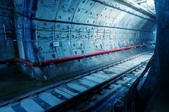 Túnel NYC do metro Fotografia de Stock
