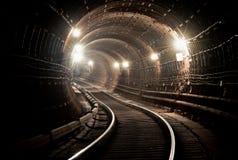 Túnel NYC do metro Kiev, Ucrânia Kyiv, Ucrânia Fotografia de Stock Royalty Free