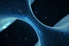túnel o wormhole, túnel del ejemplo 3D que puede conectar un universo con otro Deformación abstracta del túnel de la velocidad ad Imagenes de archivo