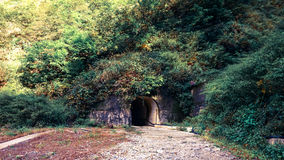 Túnel oscuro en montaña Imagen de archivo