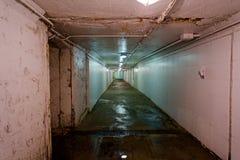 Túnel, passagem industrial Fotos de Stock Royalty Free