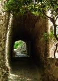 Túnel peatonal en las montañas Imagen de archivo libre de regalías