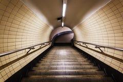Túnel pedestre do metro de Londres Fotos de Stock Royalty Free