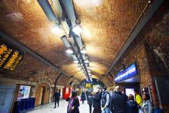 Túnel pedestre do tubo de Londres Foto de Stock