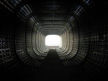 Túnel preto fotografia de stock