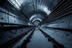 Túnel profundo del metro Foto de archivo libre de regalías